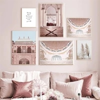 islamic architecture wall art print moroccan canvas painting nordic church poster muslim travel vintage picture bedroom decor
