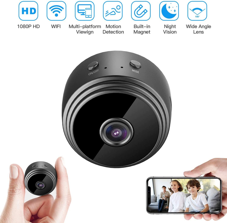 A9 كاميرا لا سلكية صغيرة واي فاي كاميرا أمنة للبيت كاميرا مراقبة كشف الحركة الأشعة تحت الحمراء للرؤية الليلية App مراقب عن بعد