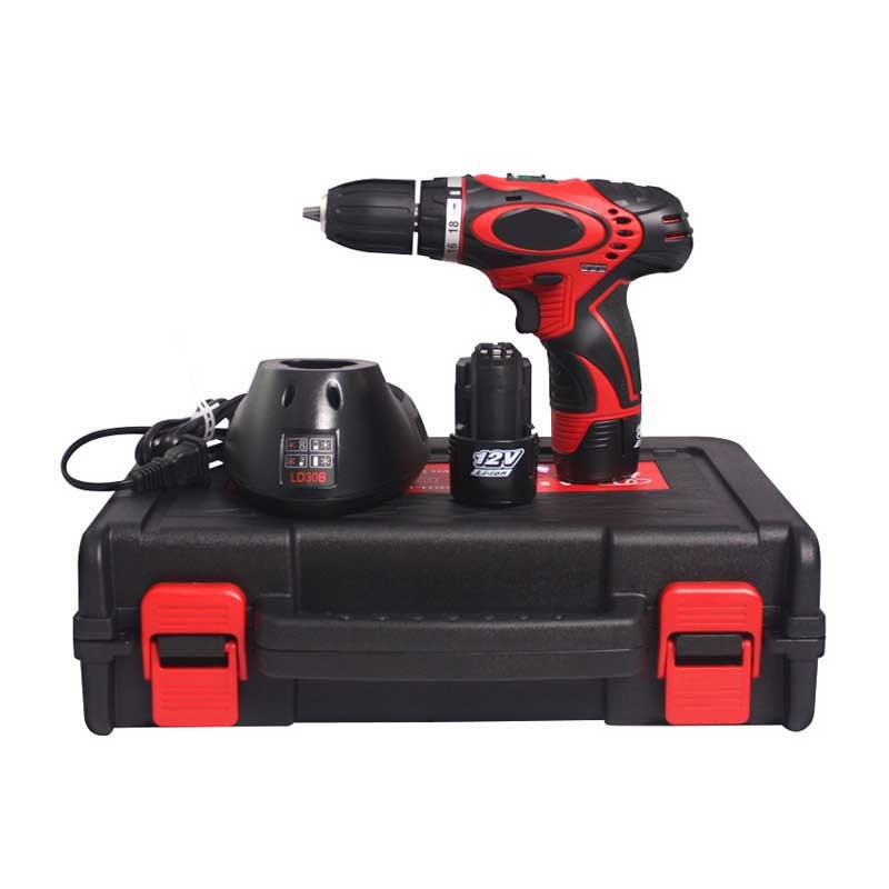 Home Electric screwdriver tool 12v rechargeable-lithium battery DS10BH-LI Hand-Held Electric Drill Power Tools 700 rpm 24N/M