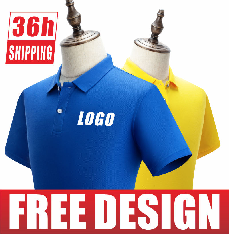 Spring and summer business men's and women's Polo shirts custom printing and embroidery