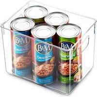 clear pantry organizer bins household plastic food storage basket box for kitchen countertops cabinets refrigerator freezer