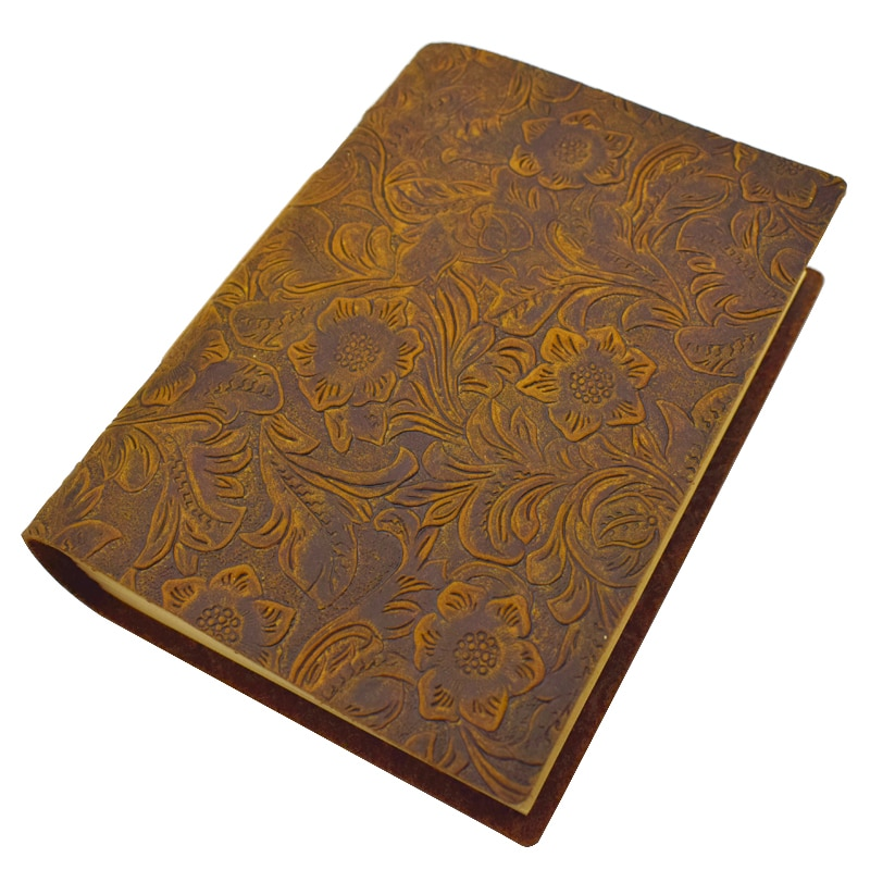 Handmade Notebook Nature Genuine Leather Cover Diary Notepads Weekly Planner Writing Paper 200 Sheets Office School Supplies