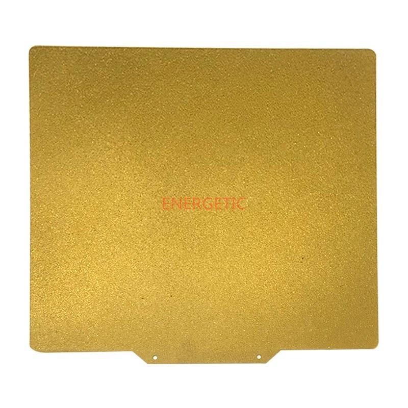ENERGETIC-لوح فولاذي للطابعة Robo R1 ثلاثية الأبعاد ، لوح زنبركي مطلي بمسحوق PEI على الوجهين ، 254 × 254 مللي متر ، جديد