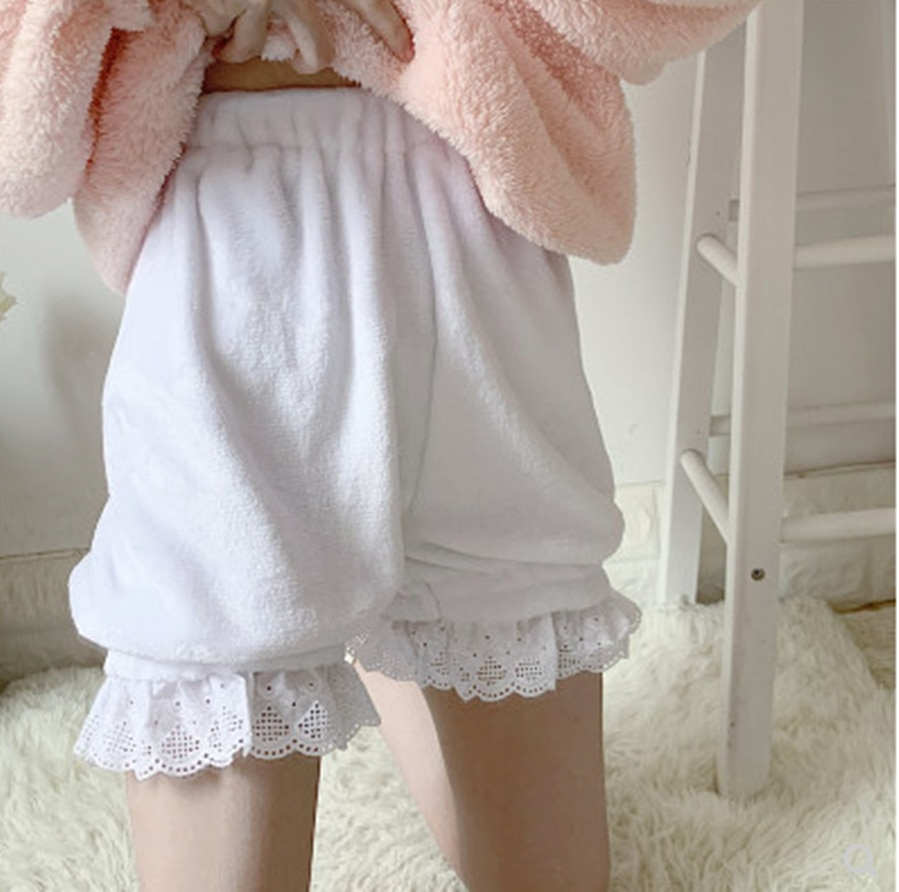 Japonés dulce lolita encaje seguridad pantalones kawaii chica gótica lolita loli cos invierno mujer lindo impresión victoriana seguridad Pantalones
