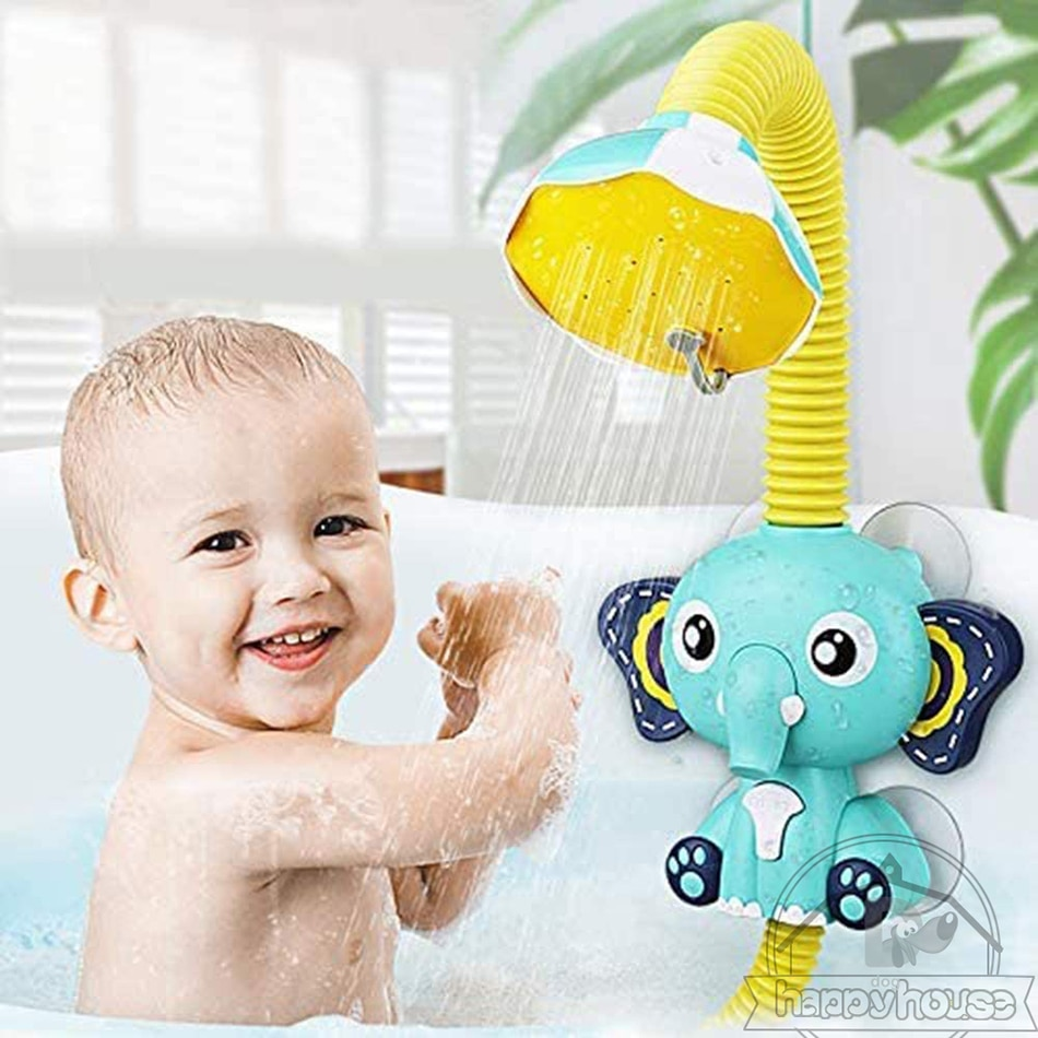 Bath Toys for Kids Electric Elephant Animal Sucker BaBy Bath Toys Spray Water Toys for Kids Outside Pool Bathtub Toys Sprinkler