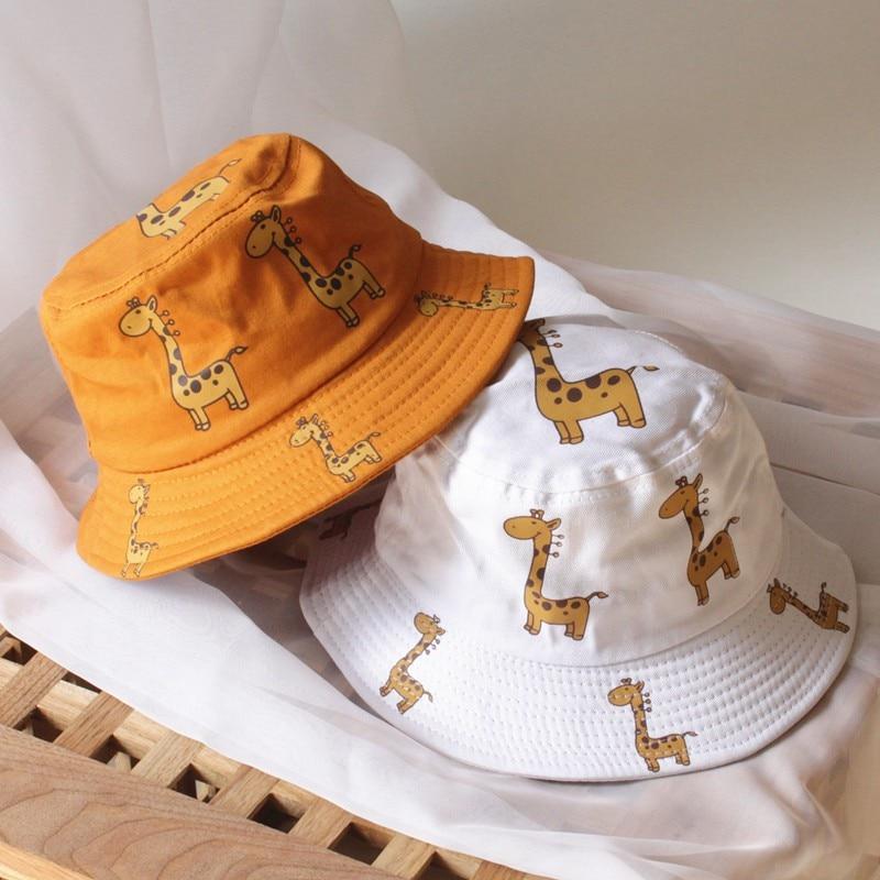 Весенняя детская шляпа, мультяшная Кепка для мальчиков и девочек, для детей ясельного возраста, с принтом животных, Панама, кепка, двусторонняя, солнцезащитная Кепка