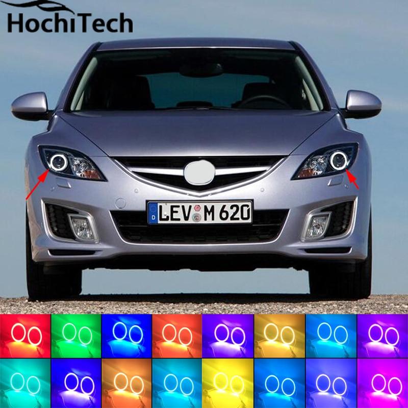 Yeux de démon dange RGB   Pour mazda 6 2007 2008 2009 2010 2011 périmètre, anneaux de phares, halo multicolores RGB