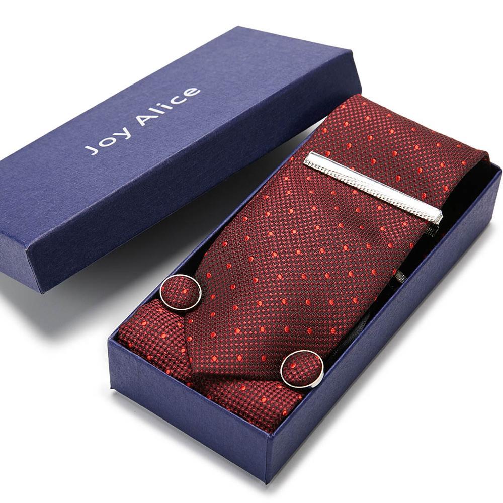 Wedding Necktie Jacquard Woven 100% Silk Handkerchief&Cufink&Tie Clip&Tie Set Classic Wedding Party Flomal Gift for men недорого