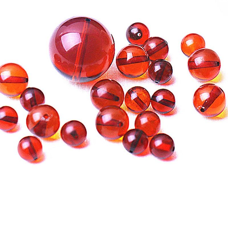 Une pièce perles en vrac RRD/or jaune rond ambre 4/6/8/10mm pour la fabrication de bijoux collier FPPJ en gros