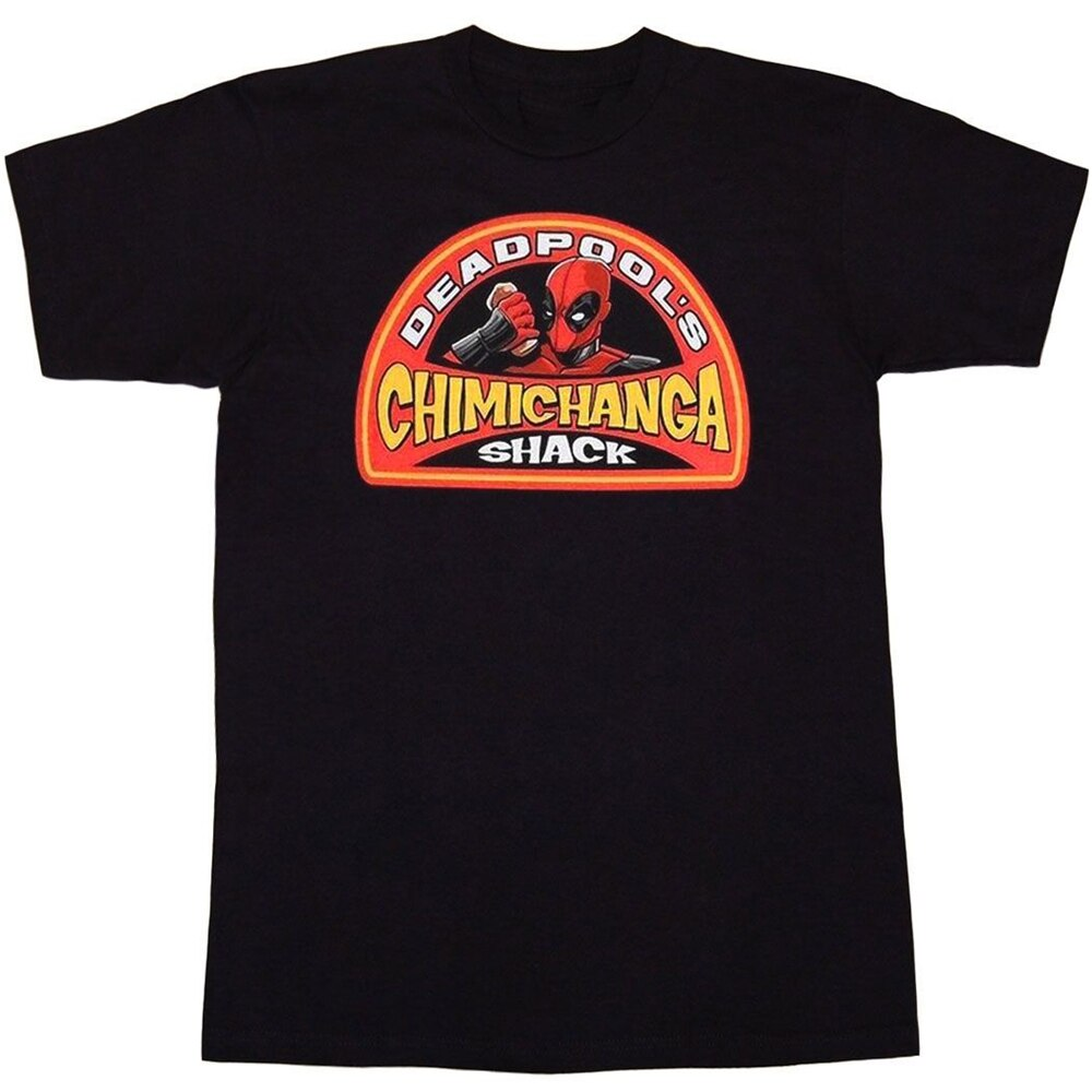 Deadpool Chimichanga Shack camiseta Harajuku divertida camiseta