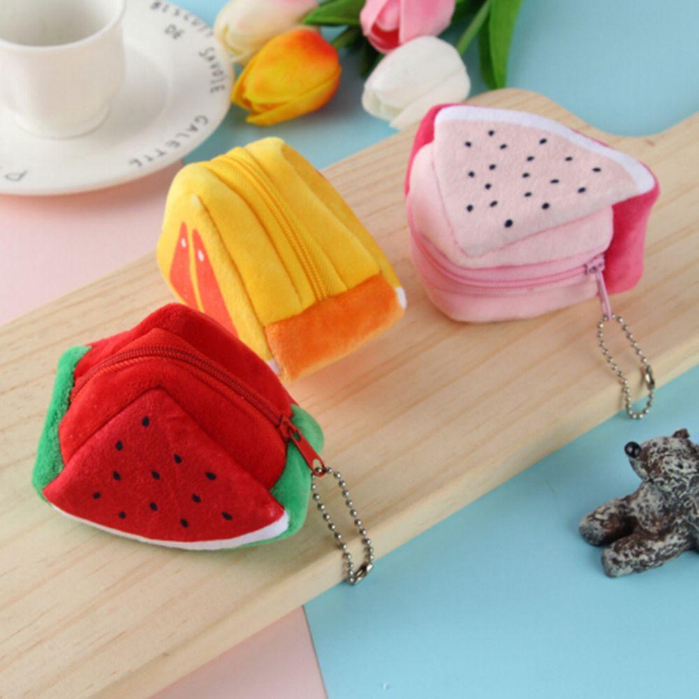 Monedero bonito coreano para niños, cartera pequeña, monedero para niñas, monedero pequeño para fruta, porta tarjetas, regalos para niños 1 unidad