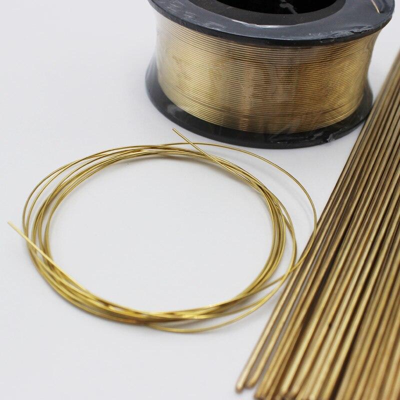 Varillas de alambre de soldadura MIG TIG de latón de 0,8mm x 2m