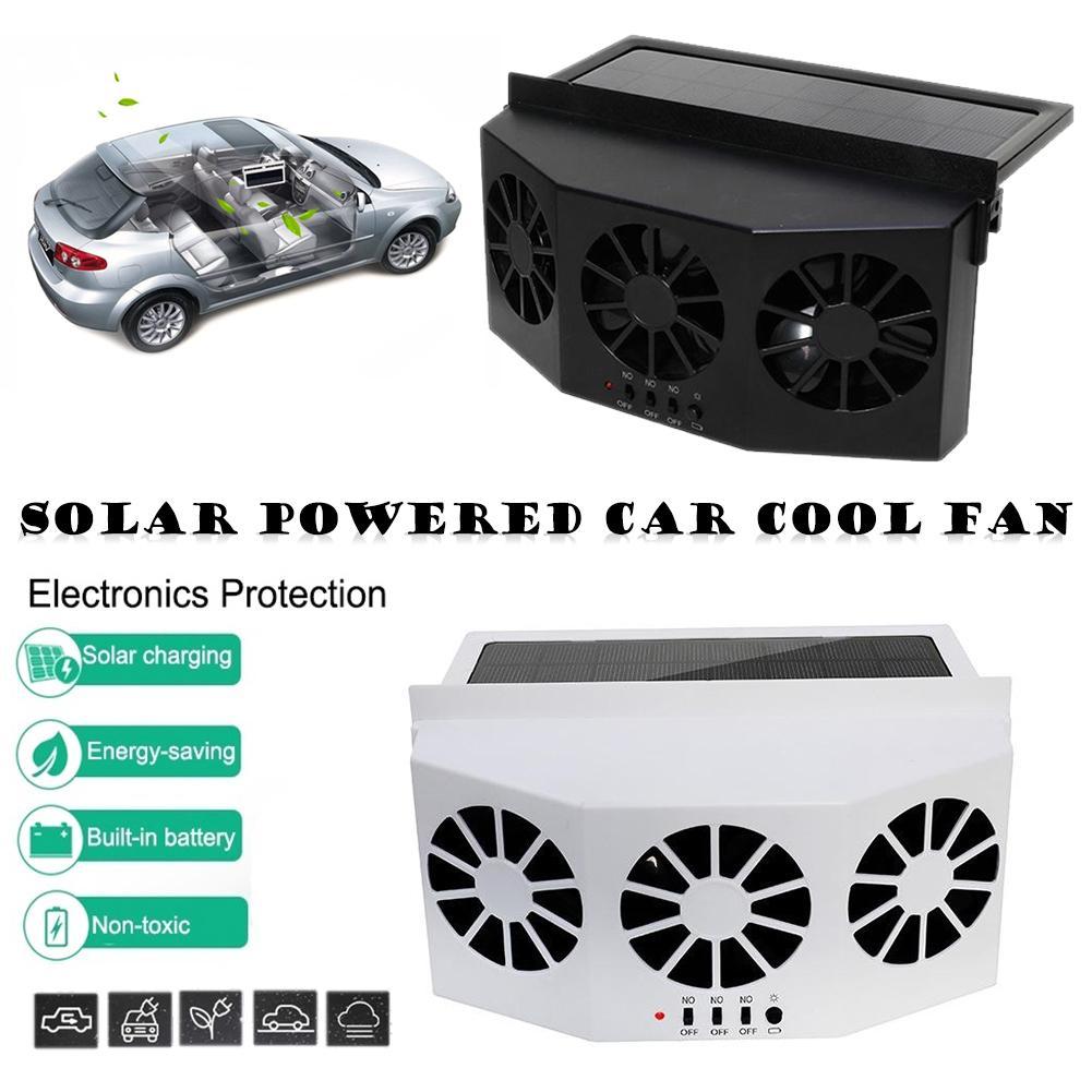 Zonne-energie Auto Koeler Voor/Achterruit Radiator Radiator Uitlaat Fan Auto Air Vent Fan Ventilatie Radiator Koelsysteem