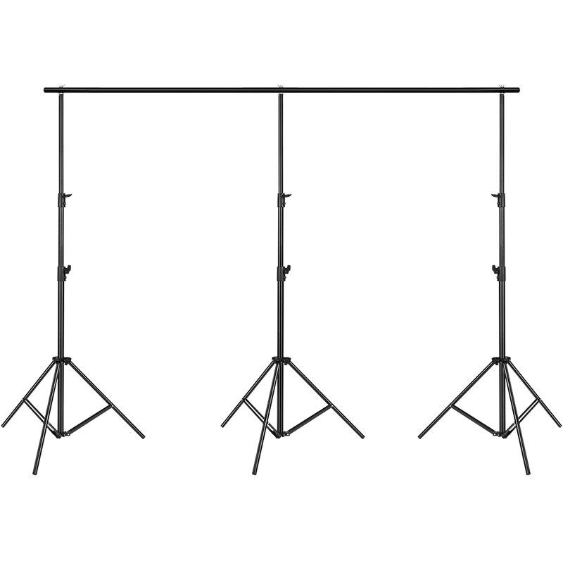 Fondo soporte de fondo Kit de sistema de soporte de luz altura 3 m/9.8ft ancho de barra cruzada 4 m/13ft