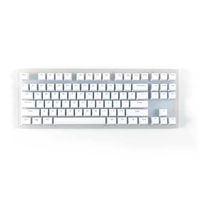 Womier K87 الساخن قابلة للتبديل لوحة المفاتيح الميكانيكية RGB 80% TKL لوحة المفاتيح شفافة قاعدة من الإكريليك Gateron التبديل Type-c
