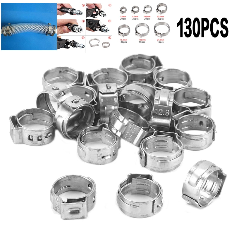 76 84mm t bolt clamp t hose pipe clamp stainless steel t bolt turbo silcone hose clamp new 130pcs Single Ear Hose Clamps 0.7mm-21mm Stainless Steel Water Pipe Hose Clamp Mixed Assorted Set for Sealing All Kinds of Hose