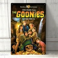 metal sign wall sign wall decorative plaque art collection the goonies movie poster metal tin sign pin up metal