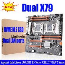X79 dual CPU motherboard LGA 2011 E-ATX USB 3,0 SATA3 PCI-E 3,0 mit dual Xeon prozessor motherboard mit M.2 slot dual Giga LAN