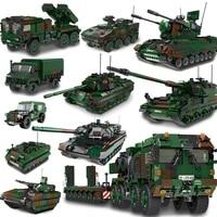 xingbao germany military series hx 8 elefant tractor pzh2000 cannon leopard tank lars 2 rocket launcher building blocks bricks