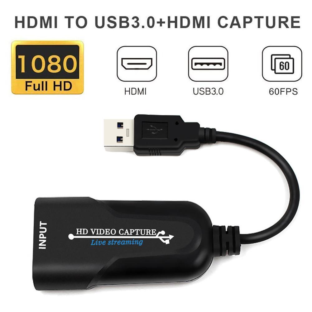 Мини-карта захвата видео USB 3,0 HD, записывающее устройство для DVD-видеокамеры, HD-камеры, прямой трансляции