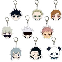 2021 anime toy pendant curse back to battle anime peripheral doujin q version double sided transparent acrylic keychain