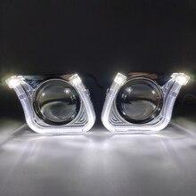 Автомобильный Стайлинг 2,5 дюймов квадратный U светодиодный объектив ангельские глазки HID Биксеноновые линзы кожухи для фар автомобильный проектор DRL H1 H4 H7 модернизация
