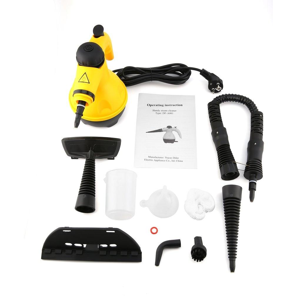 Limpador de vapor elétrico portátil, ferramenta de escova para limpeza doméstica multifuncional para limpeza de vapor