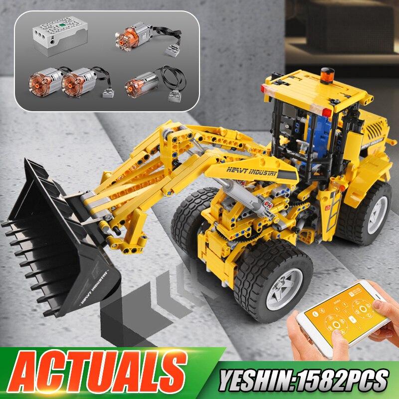 Moldking التكنولوجيا الفائقة 1582 قطعة RC APP L350F رافعة عجل نماذج من الشاحنات اللبنات مجموعات MOC-42030 الطوب الاطفال اللعب هدايا عيد