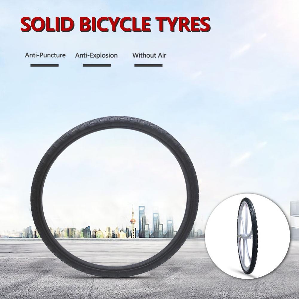 Neumático sólido de 26*1,95 para bicicleta, neumático de 26 pulgadas para ciclismo de montaña o carretera, resistente al inflado y a prueba de explosiones
