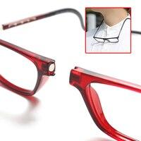Магнитные очки для чтения TR90 с подвесной шеей, увеличительное стекло для чтения, мужские пресбиопические очки, женские очки с защитой от сис...