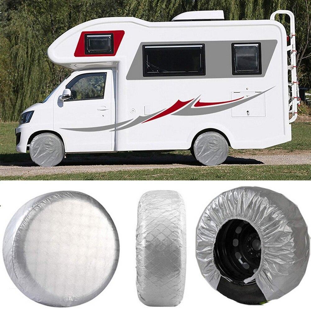 4 pièces couvre pneus protecteur étanche voiture roue couverture soleil protecteur pour RV Auto voiture camping-Car