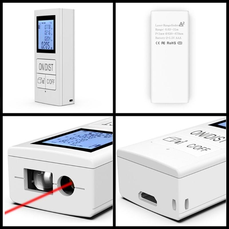 Medidor de Distância Recarregável Mini Laser 30m Rangefinder Uso Doméstico Ferramenta R9uc 98ft –