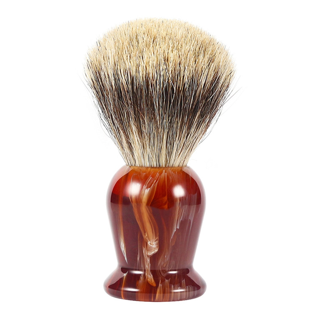 Cepillo de afeitar de buena calidad para hombres, cepillo para el mejor pelo, afeitado, mango de madera, maquinilla de afeitar, herramienta de barbero, cepillo cosmético