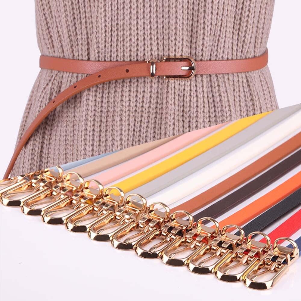 Женские ремни из кожзаменителя тонкий конфетных цветов тонкий пояс регулируемый пояс женское платье ремень cinturon mujer женский пояс