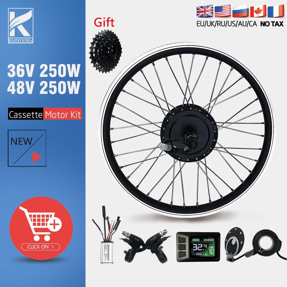 eBike Conversion Kit 36V48V 250W Ebike 16 20 24 26 27.5 28 29inch 700C Rear Cassette Hub Motor Kit For Electric bike Motor Kit