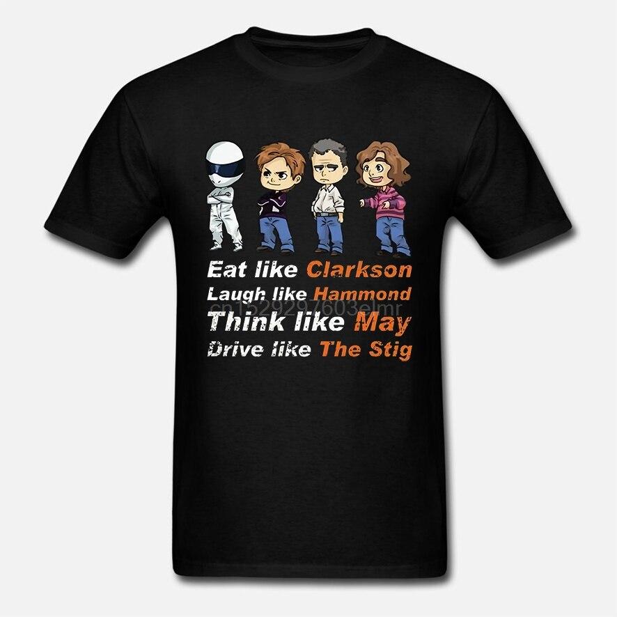 Camiseta de los hombres Eat Like clarsons Rise Like Hammon Think Like can Drive Like The Stig The Grand Tour camiseta de las mujeres