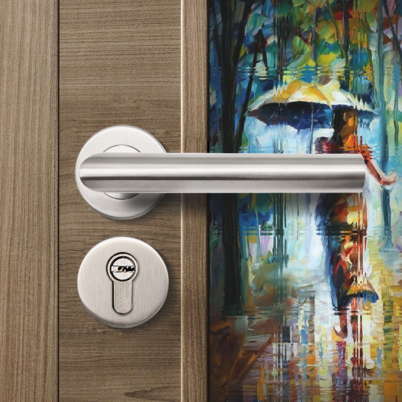 Lh1003 aço inoxidável #304 tubo alavanca maçaneta da porta