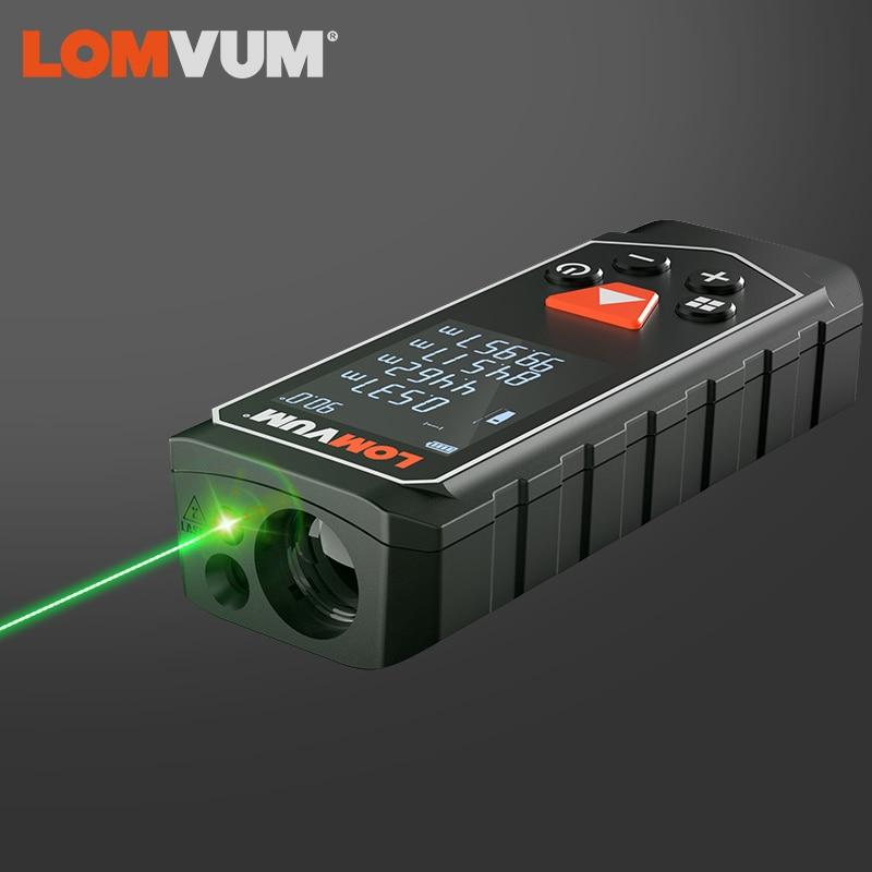 LOMVUM-telémetro láser Digital, medidor de distancia láser de luz verde con batería...