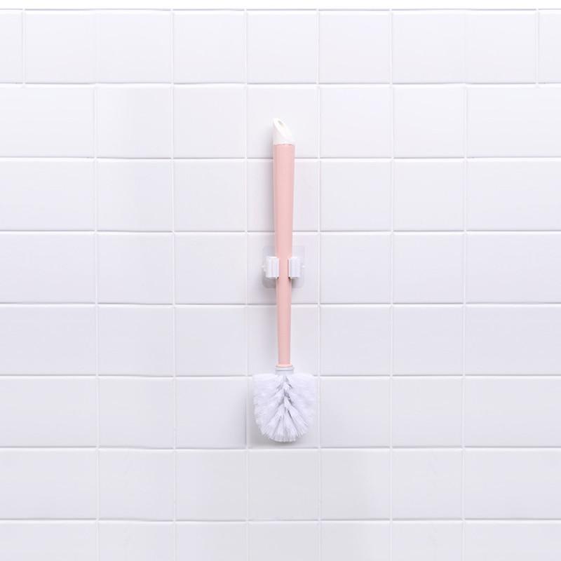 1pcs dinding dipasang pel pemegang pemegang sikat penyangkut - Organisasi dan penyimpanan di dalam rumah - Foto 5