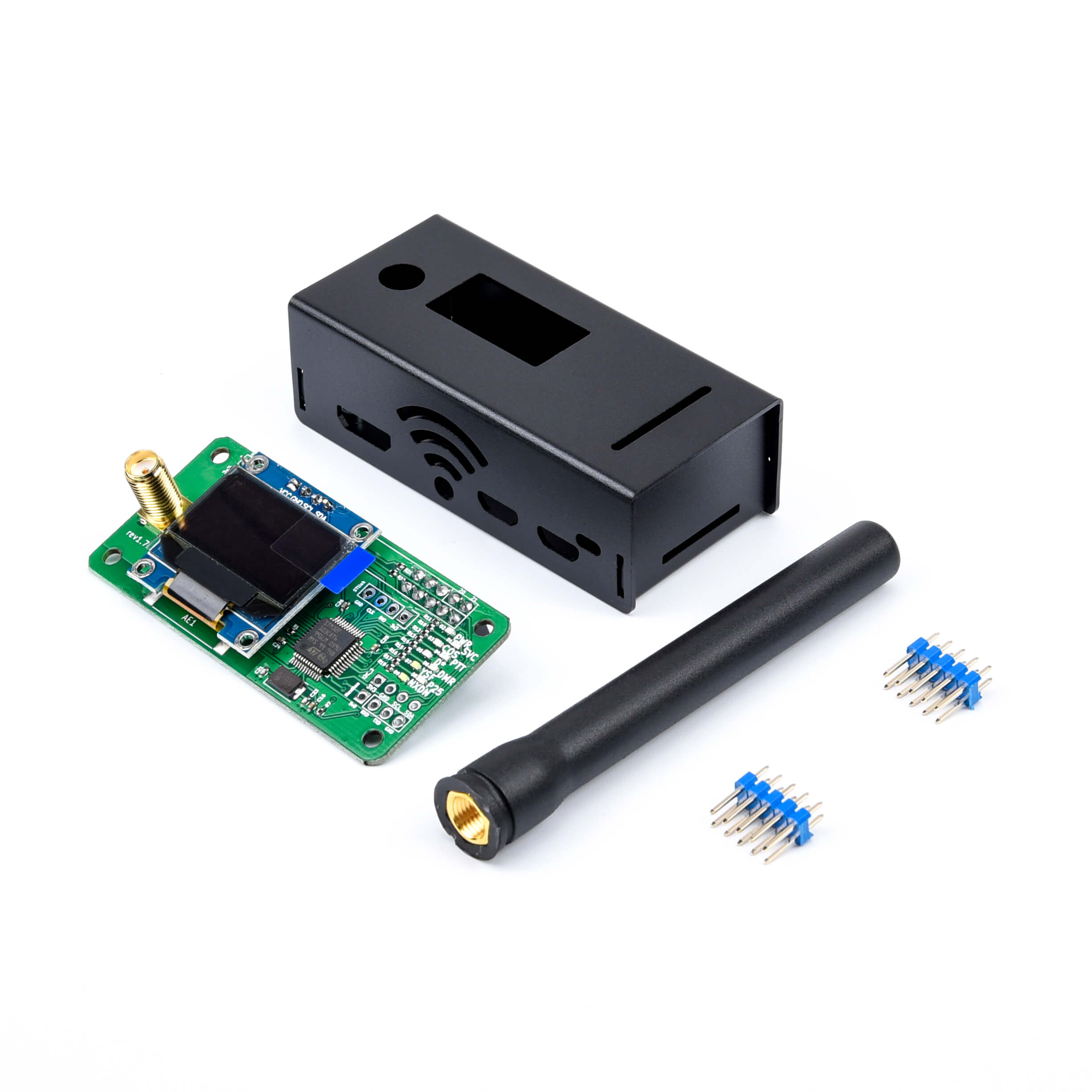 Oferta, Jumbospot UHF y Antena VHF + carcasa de aluminio, hotspot MMDVM compatible con P25 DMR YSF para raspberry pi