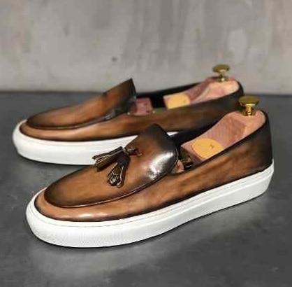 2021 Spring/Autumn New Men Pu Leather Casual Shoes  Slip on Fashion Sneakers Dress Shoes Men  Zapatillas De Deporte KV043