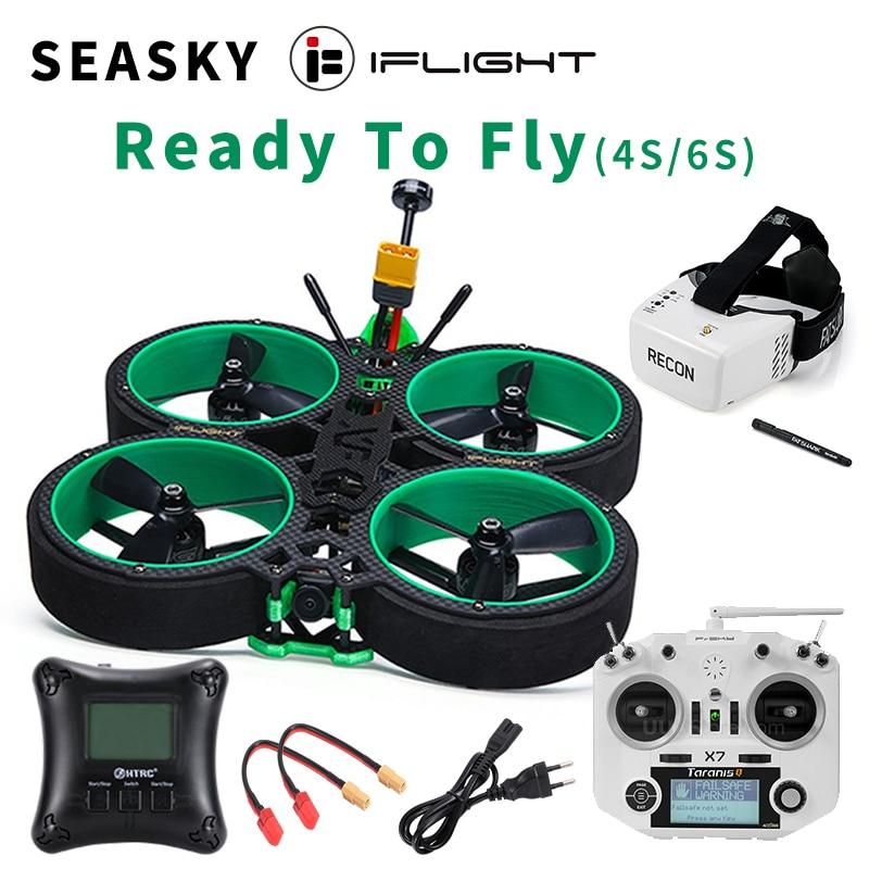 SEASKY iFlight Green Hornet FPV Racing Drone 3inch RTF Frsky ACCESS X7 SucceX-E F4 35A ESC 500mW VTX FatShark Recon v2 HD Goggle