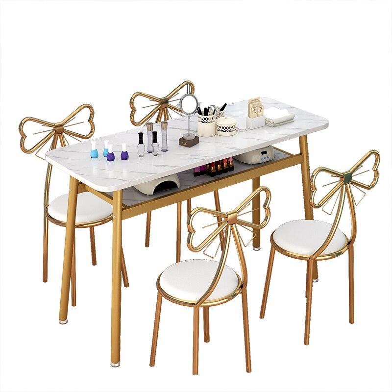 طاولات وكراسي متجر الأظافر الشمال مجموعة طاولة أظافر مزدوجة