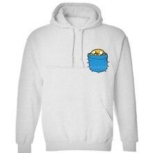 Jake poche aventure temps inspiré, adultes KidsCartoon hommes neutre (femmes) sweat-shirts à capuche dhiver livraison gratuite