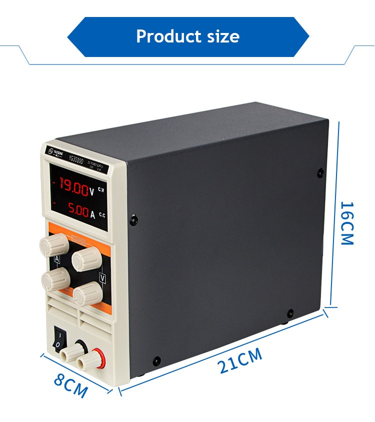 Pantalla Digital 30V 5A, fuente de alimentación regulada CC ajustable, reparación de teléfono móvil YAOGONG YG305D 305D ajustable