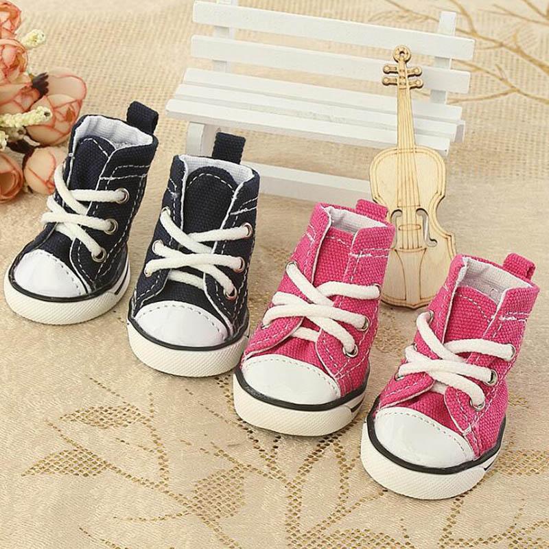 Zapatos de lona para perros de tela vaquera para mascotas, zapatos informales transpirables para gatos, botas antideslizantes de peluche para cachorros pequeños Chihuahua XS S M L XL