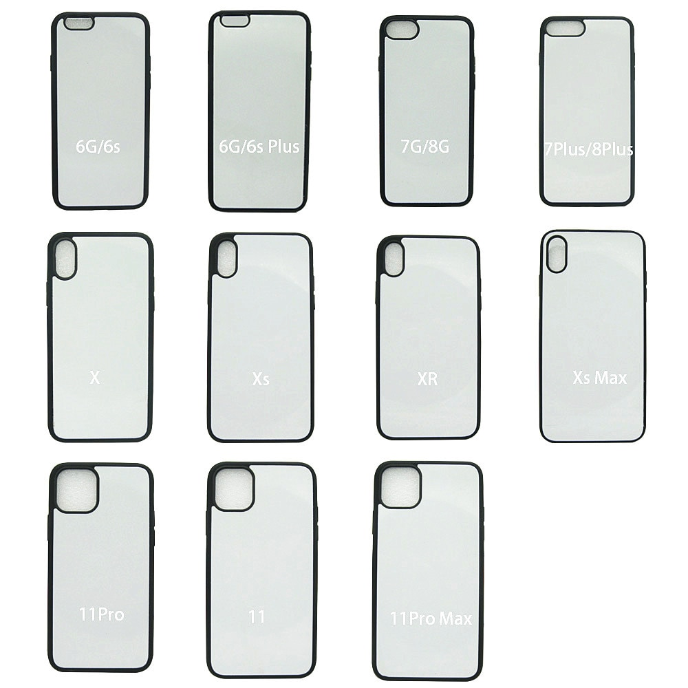 50 fundas de Material de ranura en blanco para iphone 11 Pro Max Xr Xs X 7 8 Plus SE2 con cinta adhesiva de doble cara y placa de transferencia de calor