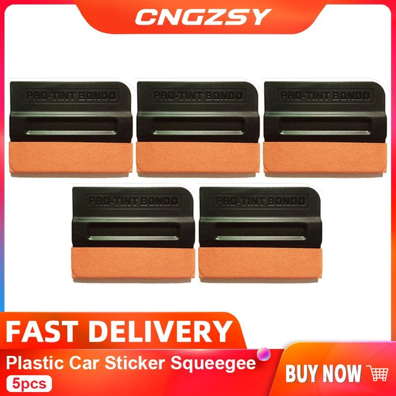 Escurridor de pegatina de coche de plástico CNGZSY 5 uds, rascador de envoltura de ventana automático con imán de gamuza para instalación de tinte de Ventanilla de película adhesiva