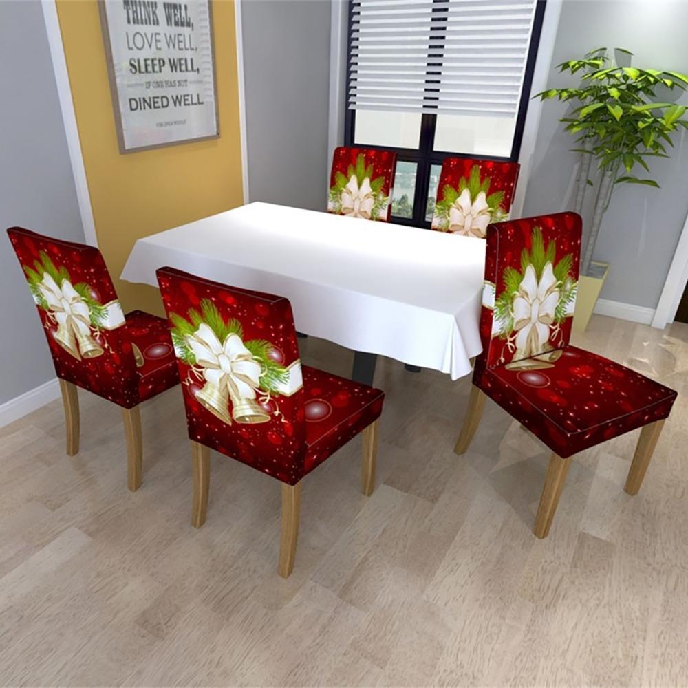 Cubierta de silla de Navidad, Protector de silla para comedor, decoración de...