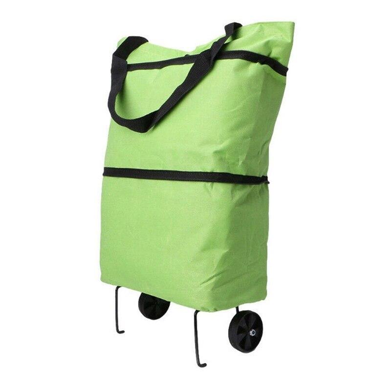Bolsas de compras de gran capacidad de moda nueva bolsa de almacenamiento para la compra con cremallera de Color para mujer con ruedas